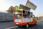 鷗翼餐車 白鐵設備 抽油煙機 透明冷藏展示櫃 多處置物空間